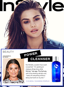 Lea Michele power cleanser iS Clinical